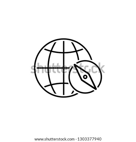 Earth, compass icon. Element of Web Navigation icon for mobile concept and web apps. Detailed Earth, compass icon can be used for web and mobile