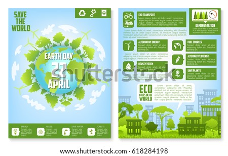 earth day brochure template