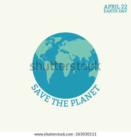 earth day card globe symbol