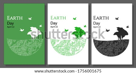 earth day cards collection set
