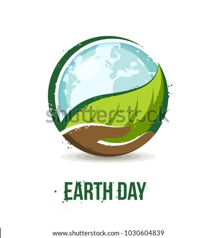 earth day concept hand holding