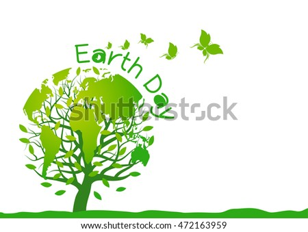 earth day design on white