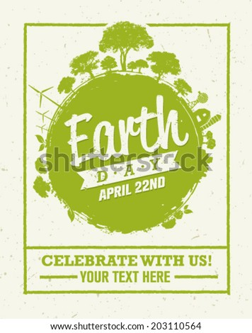 earth day eco green vector
