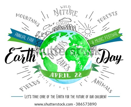 earth day holiday flyer modern