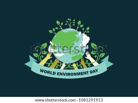earth day illustration. world environmental day.