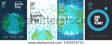 Earth Day. International Mother Earth Day. Environmental problems and environmental protection. Vector illustration. Set of vector illustrations