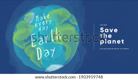 Earth Day. International Mother Earth Day. Environmental problems and environmental protection. Flat vector illustration.