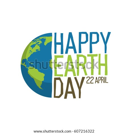 Earth day logo design.