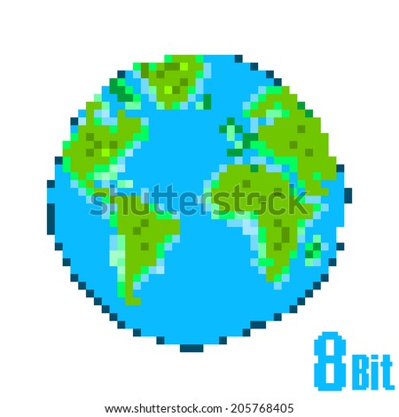 earth day pixel save the earth