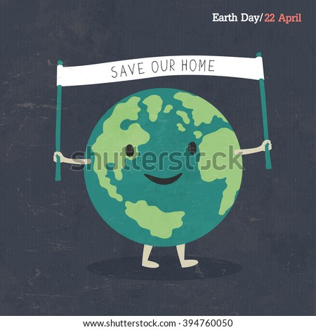 earth day poster. earth cartoon ...