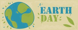 Earth Day Poster (Vector Art)