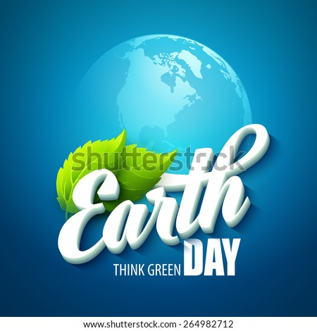 earth day vector illustration