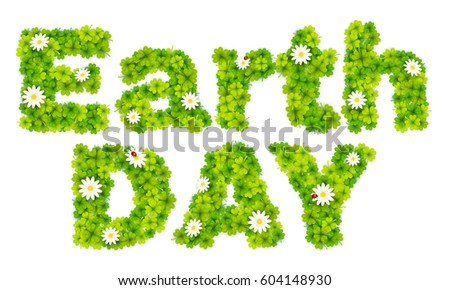 earth day vector sign made from