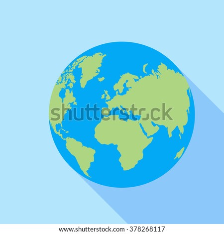 earth flat icon vector