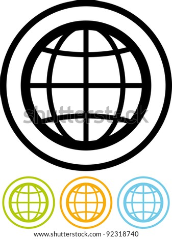 Earth geographical globe - Vector icon