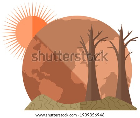 earth global warming poster