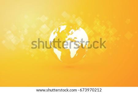 earth globe abstract yellow