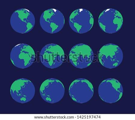 earth globe animate spinning