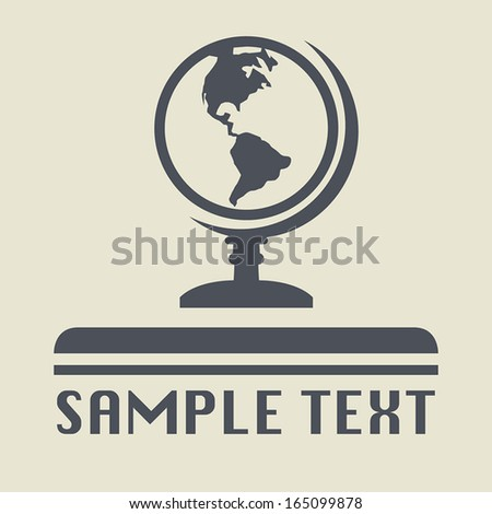 Earth globe icon or sign, vector illustration
