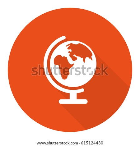 Earth globe icon stock vector illustration flat design