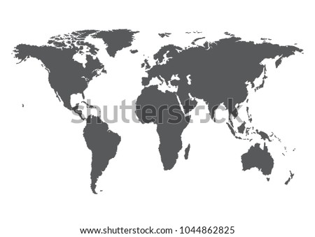 Earth, globe icon. Vector. World map isolated on white background.  #1044862825