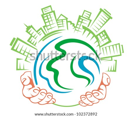 Earth globe in people hands for ecology concept. Jpeg version also available in gallery