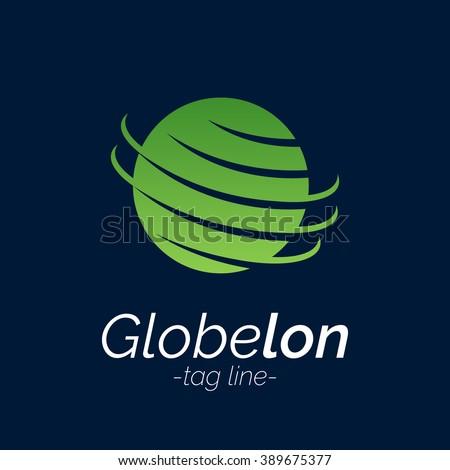 earth globe logo corporate