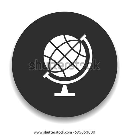 earth-globe silhouette icon