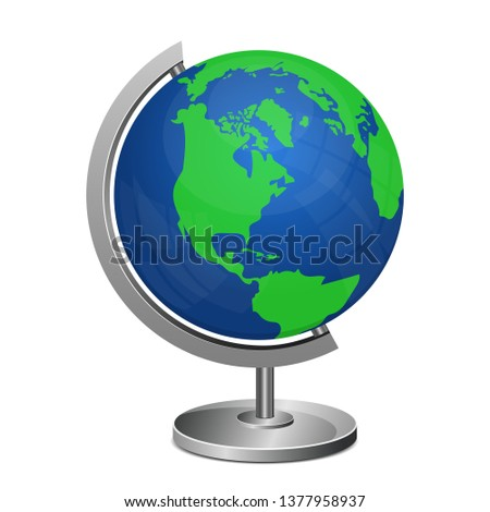 earth globe stand vector design