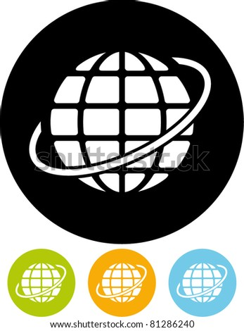 Earth globe vector icon