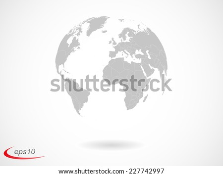 earth globe with countries