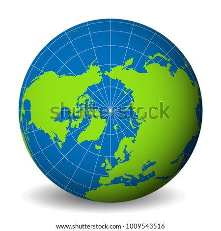 earth globe with green world
