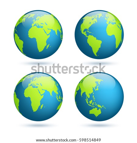earth globe world map set