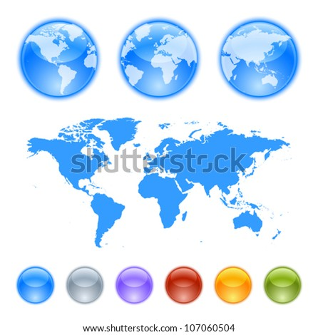 Earth globes creation kit Contains a map globe samples and globes to create your own earth globe.