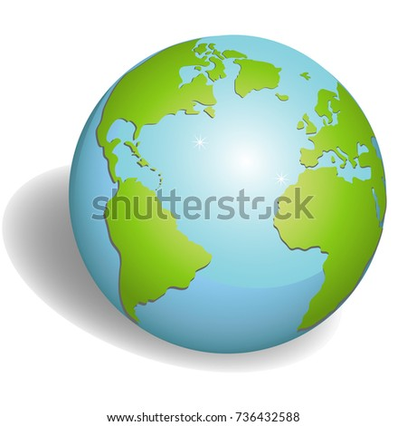 Stock Photo Earth globes isolated on white background