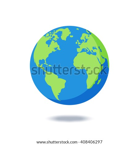 earth globes isolated on white