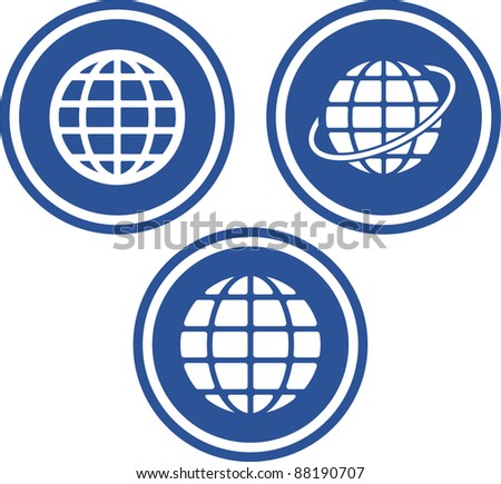 Earth globes - Vector icons