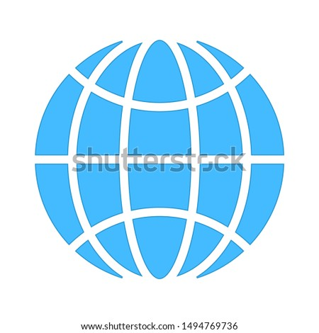 earth-grid icon. flat illustration of earth-grid - vector icon. earth-grid sign symbol