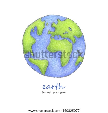 Earth. Hand drawn. Vector eps8
