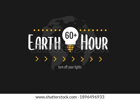 earth hour banner  poster