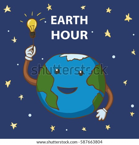 earth hour cartoon earth globe