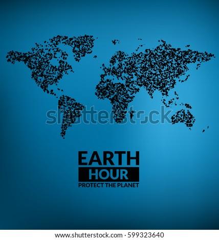 earth hour design   dark world