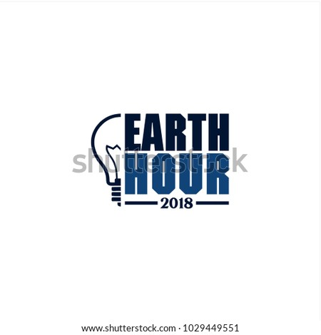 earth hour 2018 logotype