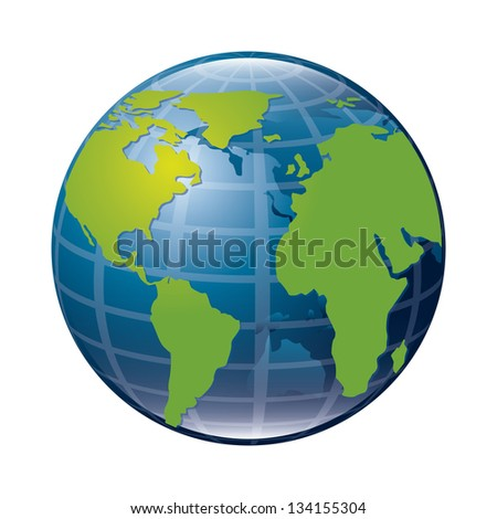 earth icon over white background. vector illustration