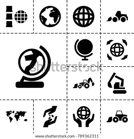earth icons set of 13 editable