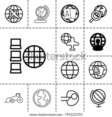 earth icons set of 13 editable