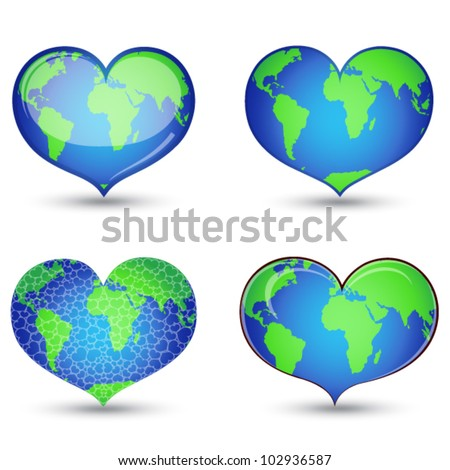 Earth in form of heart