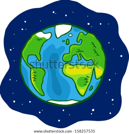 Earth in space illustration