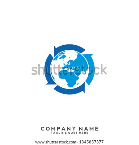 Earth logo template Globe sign