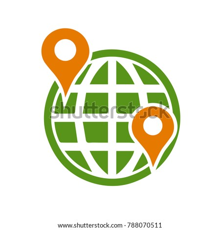 earth map marker icon - travel icon